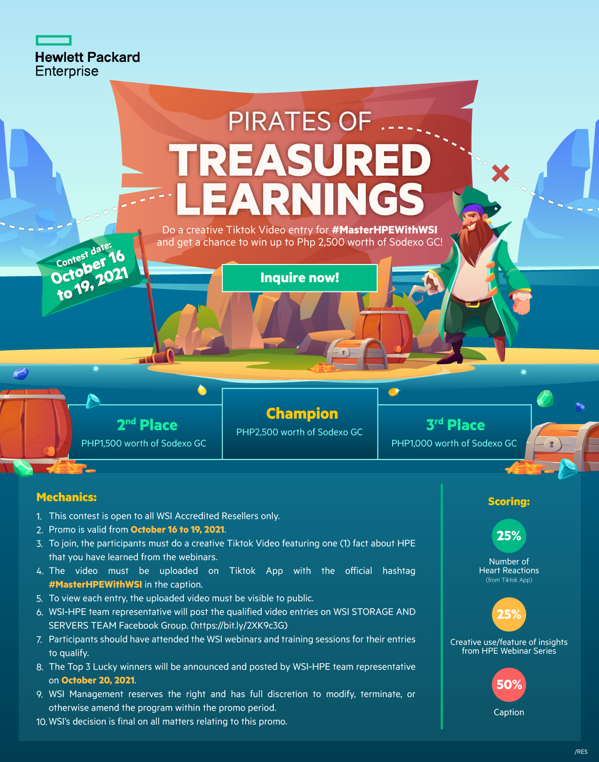 HPE-Pirates of Treasured Learnings Landing Page